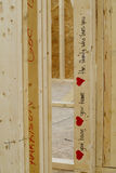 Heartfelt Wishes. Written on a stud of a new house under construction Royalty Free Stock Photography