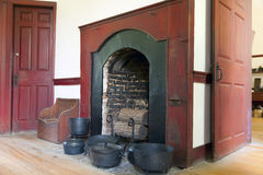 Hearth. Image of a large hearth in a historic shaker house royalty free stock image