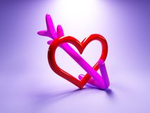 Hearth and arrow Royalty Free Stock Photography
