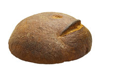 Hearth bread round on a white background. Royalty Free Stock Photos