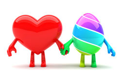 Hearth and Easter egg Stock Photography