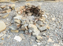 The hearth furnace of stones Royalty Free Stock Photo
