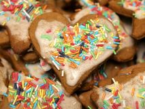 Hearth gingerbread Royalty Free Stock Photos
