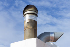 Hearth. Industrial rotary chimney of a restaurant royalty free stock images