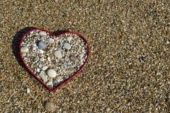 Hearth shape of beach rocks Stock Image
