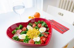 Hearth shape salad Royalty Free Stock Image
