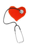 Hearth and stethoscope Royalty Free Stock Photo