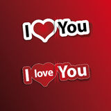 hearth stickers I love You Stock Image