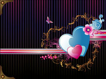 Hearth vector banner Royalty Free Stock Images