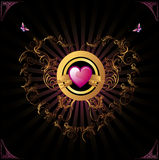 Hearth vector banner Royalty Free Stock Image