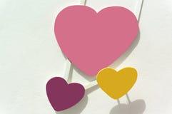 3 hearths trzy koloru Zdjęcie Royalty Free