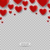 Heartisolated rött Dagbakgrund för valentin s med den röda hjärtasymbolen vektor Royaltyfria Bilder