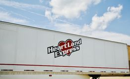 Heartland Express Trucking Company Stock Photography