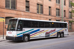 Heartland Trailways Bus in Dallas downtown Royalty Free Stock Photos