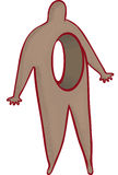Heartless. Stylised person with hole through body Stock Photography