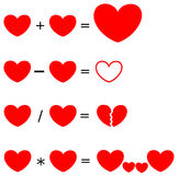 Heartrithmetic the arithmetic of love concept illustration Stock Photo