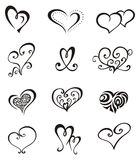 Hearts – Tattoo Set Royalty Free Stock Photos