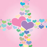 Hearts. Vector illustration for valentines day Stock Photography