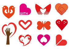 Hearts. Set of  heart icons Royalty Free Stock Photo