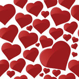 Hearts. Vector illustration for valentine's day Stock Photos