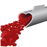 Hearts. Vector illustration for love -  images can be scaled to any size Royalty Free Stock Image