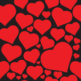 Hearts. Vector background of hearts for valentine Royalty Free Stock Photo