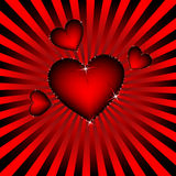 Hearts. Romantic abstract background, preparation for the designer Stock Photos