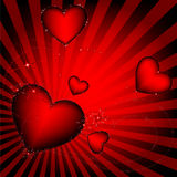 Hearts. Romantic abstract background, preparation for the designer Stock Image