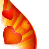 Hearts. Romantic abstract background, preparation for the designer Royalty Free Stock Photos