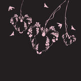 Hearts. Illustration of hearts and birds Stock Photo