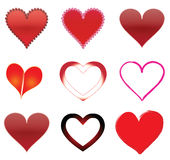 Hearts. Clipart.beautiful illustration  for valentines day Royalty Free Stock Photography