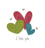 Hearts. Illustration of cute simple hearts. Also in vector EPS8 format Royalty Free Stock Photos