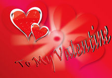 Hearts. Vector illustration for Valentine's day with red hearts stock illustration