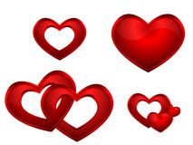 Hearts. On white background .Vector Layered File Stock Photo