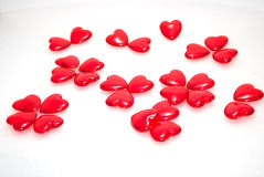Hearts. Florets from hearts on a white background Stock Image