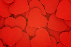 Hearts. Haphazard pile of multiple hearts Stock Image
