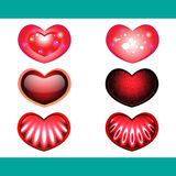 Hearts. Six isolated abstract hearts. Illustration Royalty Free Stock Image