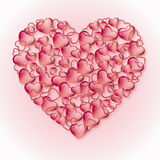 Hearts. Red hearts on pink background Royalty Free Stock Photo