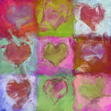 Hearts. An image of a beautiful heart background Royalty Free Stock Photos