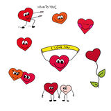 Hearts. Funny love hearts - I love you Royalty Free Stock Photo