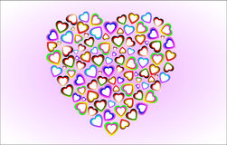 The hearts Royalty Free Stock Photography
