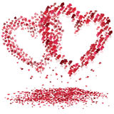 Hearts. Nice colored illustration with two red hearts royalty free illustration