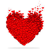 Hearts. Illustration for the valentines day Royalty Free Stock Image