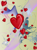 Hearts. Can be use about background or valentine card Royalty Free Stock Photography