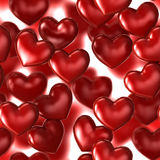 Hearts. Beautiful background of red heart seamless Stock Photo