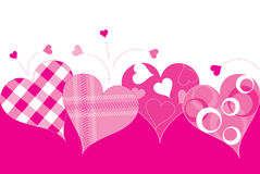 Hearts. Vibrant pink abstract heart design Stock Photo