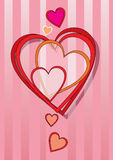 Hearts. A great idea for holiday cards. Vector illustration Royalty Free Stock Images