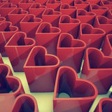 Hearts. 3d rendering of a lot of hearts Royalty Free Stock Photo