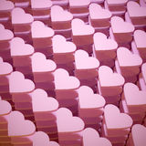 Hearts. 3d rendering of a lot of hearts Royalty Free Stock Images
