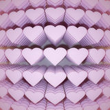 Hearts. 3d rendering of a lot of hearts Royalty Free Stock Image